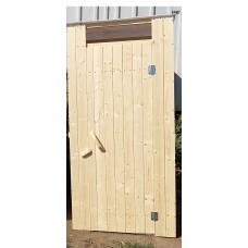 Туалет струганный деревянный с крышей